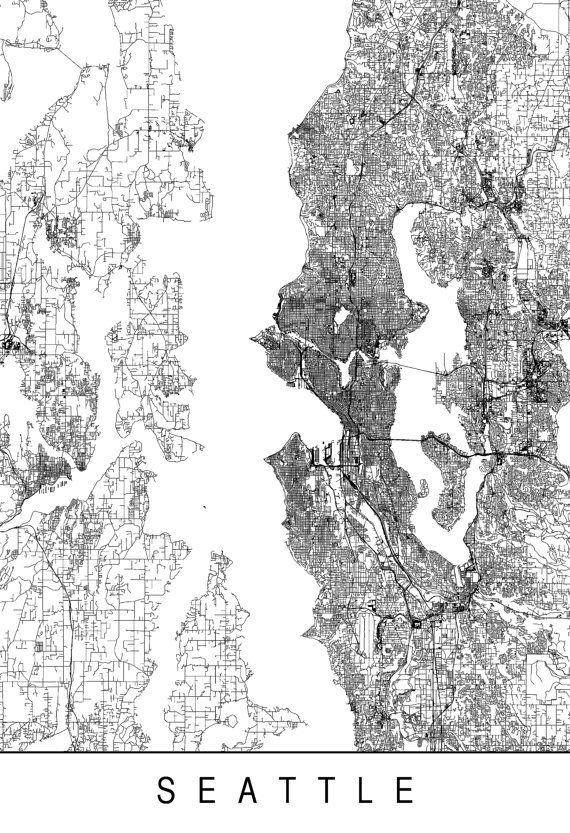 Best 25 Seattle map ideas on Pinterest