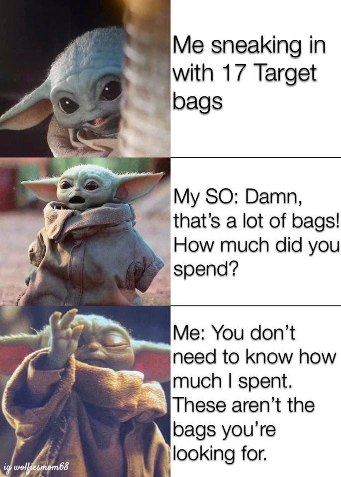Pin By Michelle Lewis Tennison On The Child Aka Baby Yoda Yoda Funny Minions Funny Yoda Meme