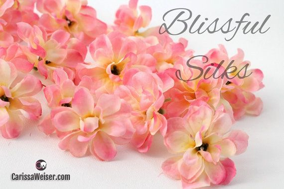 Artificial Flowers - Yellow Pink Stock Flowers - ON or OFF Stem - Flower Crown, Halo