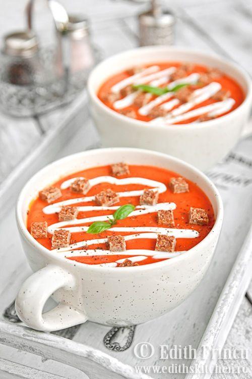 supa crema de ardei copt