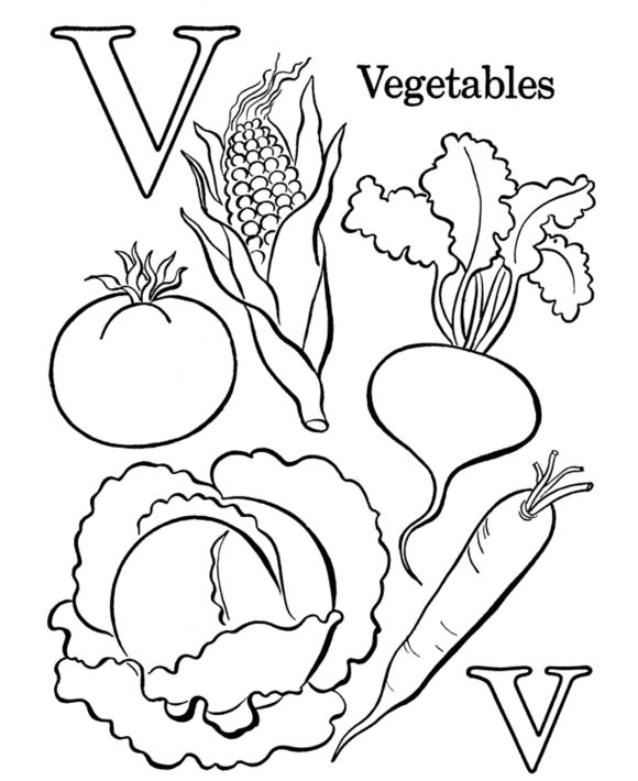Simple Vegetable Coloring Pages 28 vegetable coloring pages Google