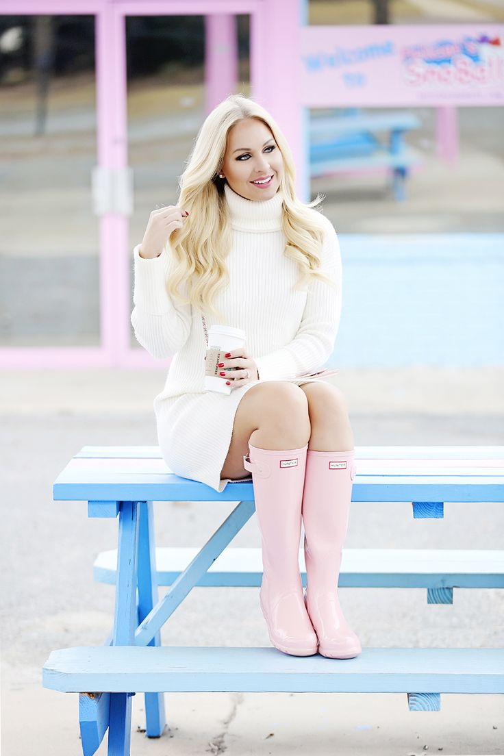 Pink Sand Hunter Rain Boots - The Perfect Pink!!
