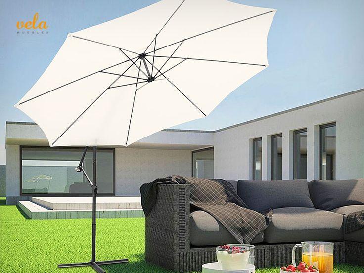 Bonito parasol excéntrico para tu jardín o terraza. Echa un vistazo