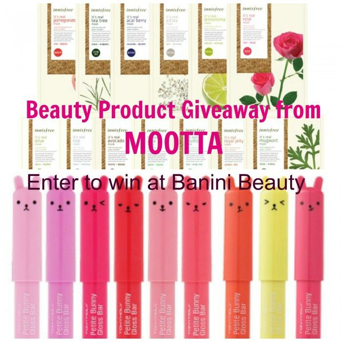 Win some Amazing Korean Beauty Products from MOOTTA! Enter for your chance to win! http://www.baninibeauty.com/4346/korean-beauty-product-giveaway-in-collaboration-with-mootta/