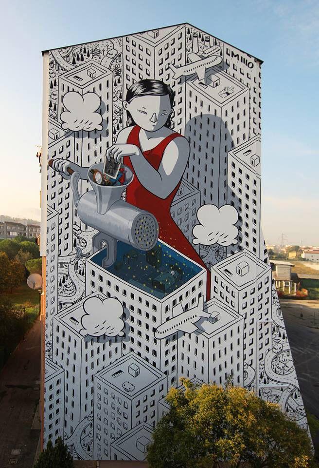 Millo - Dream, murale, Fontanelle (Pescara)