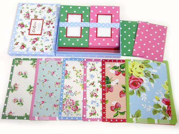Rejoice in the pleasures of good old-fashioned snail mail with this box of stationery sheets and envelopes featuring Cath Kidston's charming vintage patterns.