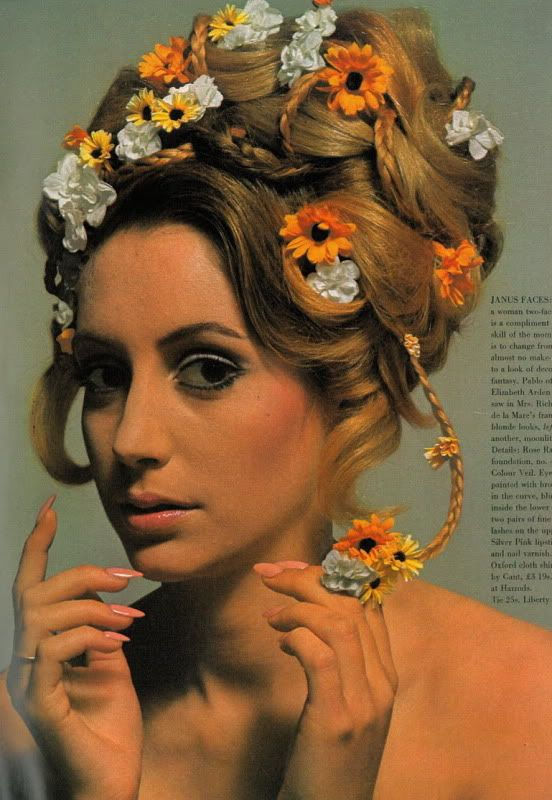 sixties: Fashion 1960S, 1960S Hairstyles, 1960 Hair, 1960 S Hair, 1960S Fashion, Beehive, Bride Hairstyles, Festival Hairstyles, Flower