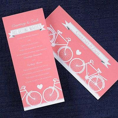 Ride On Wedding Invitation Show Your Love Of Cycling With This Theme  Inspired Two Sided