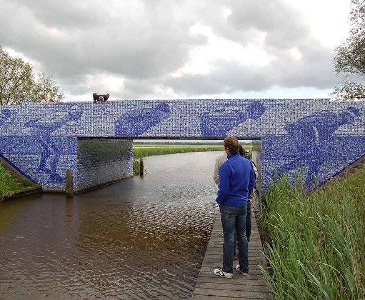 Elfsteden monument in Friesland » Koninklijke Tichelaar Makkum / Materials: glazed and transferred tiles