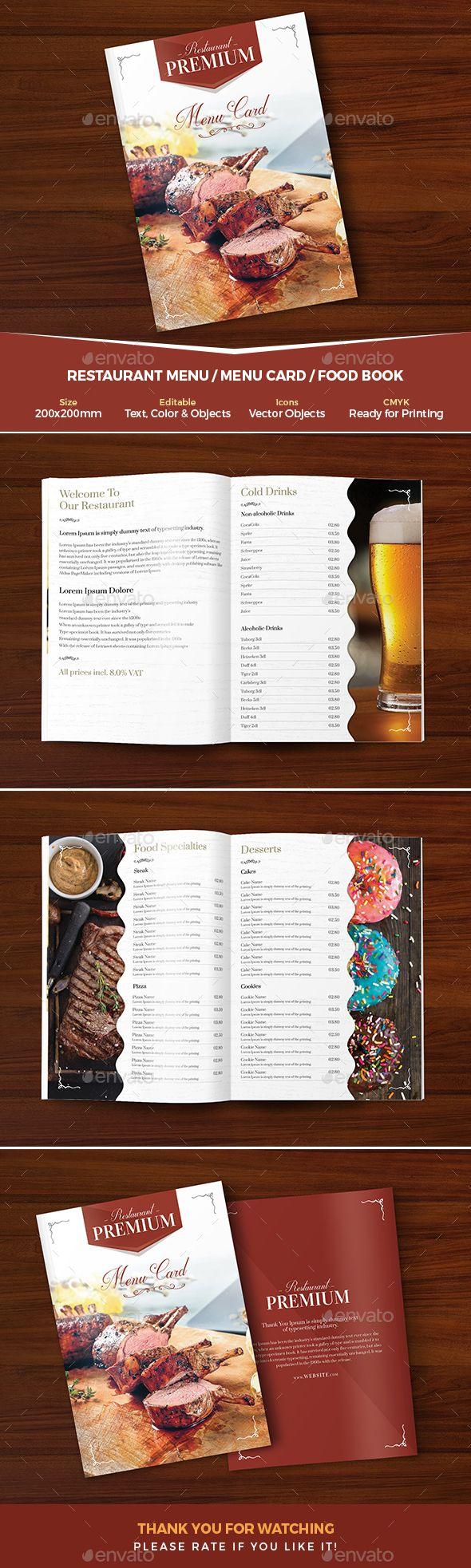#Restaurant #Menu / Menu Card - #Food Menus Print Templates