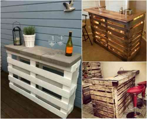 idées intéressantes pour des meubles en palettes