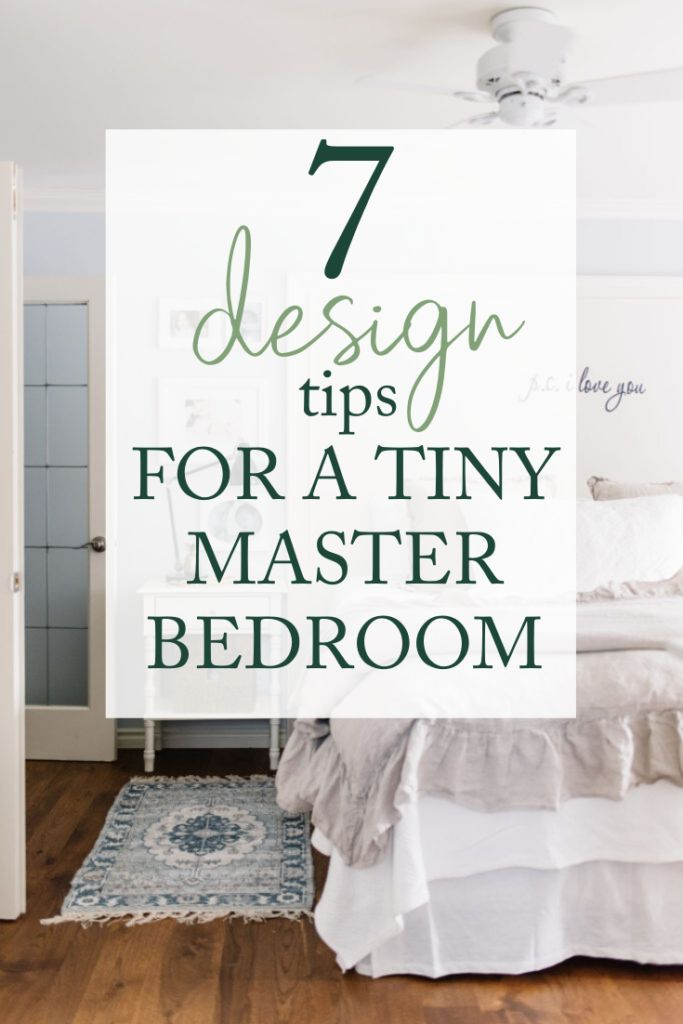 7 Small Master Bedroom Design Ideas The Ginger Home In 2020 Tiny Master Bedroom Master Bedroom Layout Small Master Bedroom Design Ideas