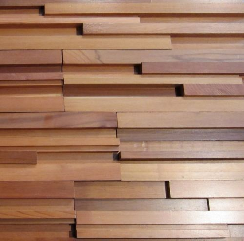 Cedar Wall Paneling : Unique modernist style western red cedar feature wall
