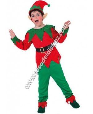 Disfraz de Elfo para niño. #Disfraces #Navidad www.casadeldisfraz.com