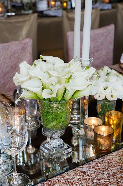 Best calla lily centerpieces images on pinterest