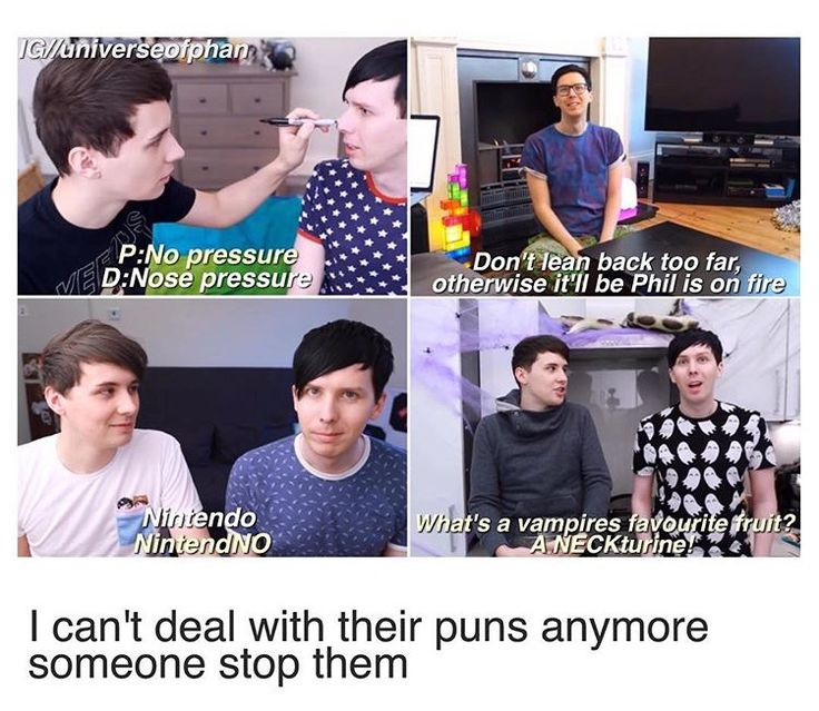 I never realized that most of the time when a pun is being made, dan is looking at Phil