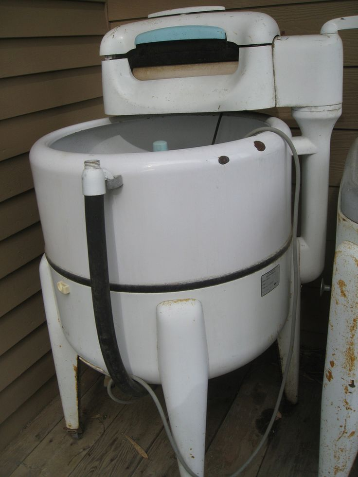 """˚Washing Machine by Maytag My great grandmother still had one of these when I was a child.  It was in a room off of the kitchen.  My cousin said """"it was better than the old one, because this one had the electric wringer"""" and I am talking 1970, lol."""