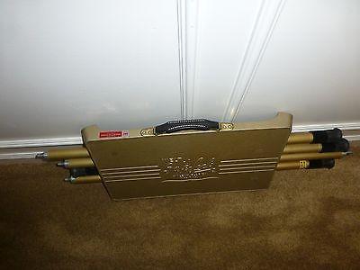 Vintage Welt Safe Lock Slide Projector Table Adjustable Legs Made In Usa Camping