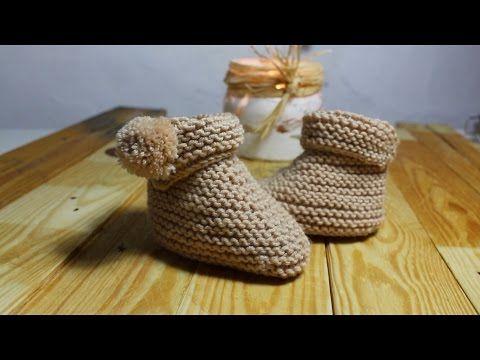 Botas de bebé a tricot paso a paso I cucaditasdesaluta | Cucaditas de Saluta