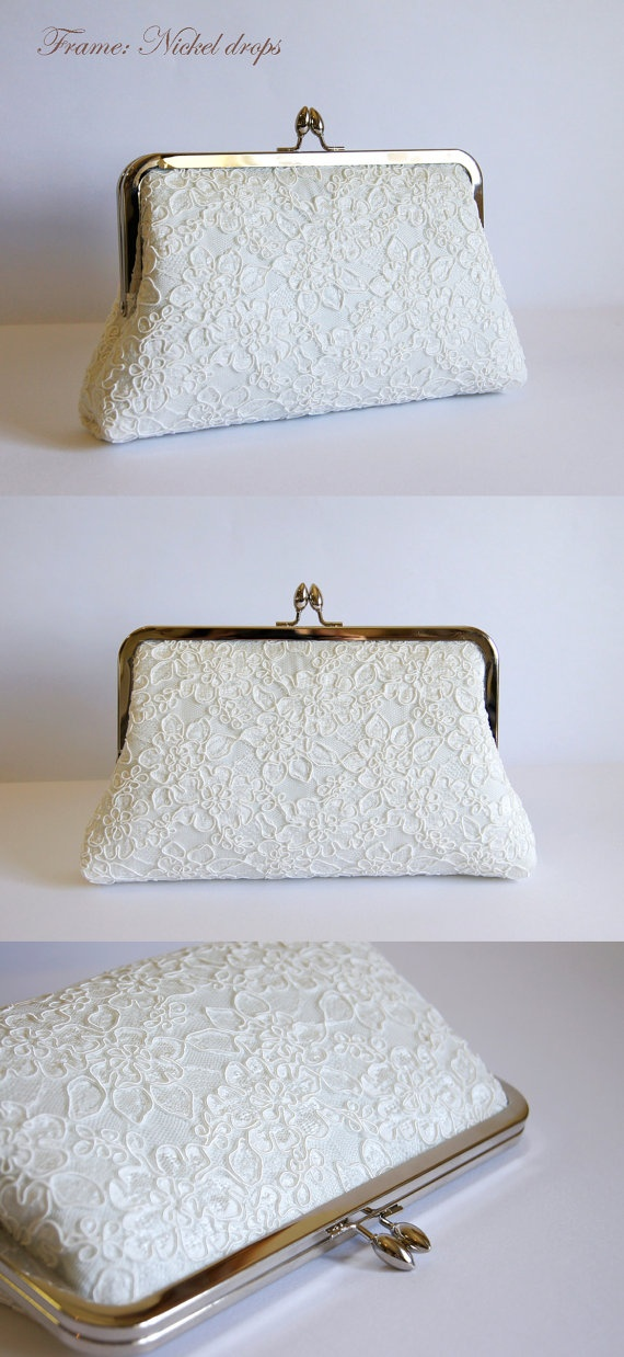 EllenVintage Alencon Lace  Silk Clutch Choose your by ellenVintage, $75.00