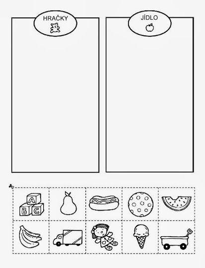 jídlo a hračky