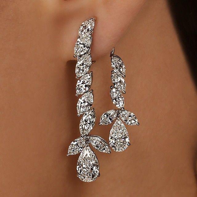 Liz Chandelier Diamond Earrings