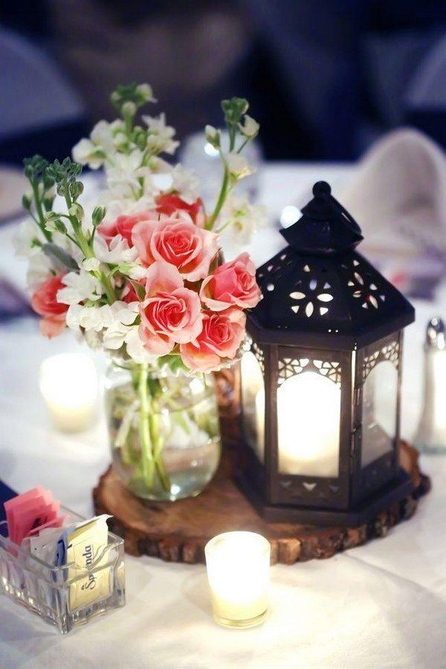 Centros de mesa con faroles para boda - Centros de Mesa