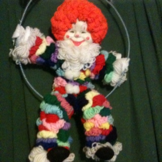 Yarn Clown Wall Hanging Vintage Crochet Pinterest