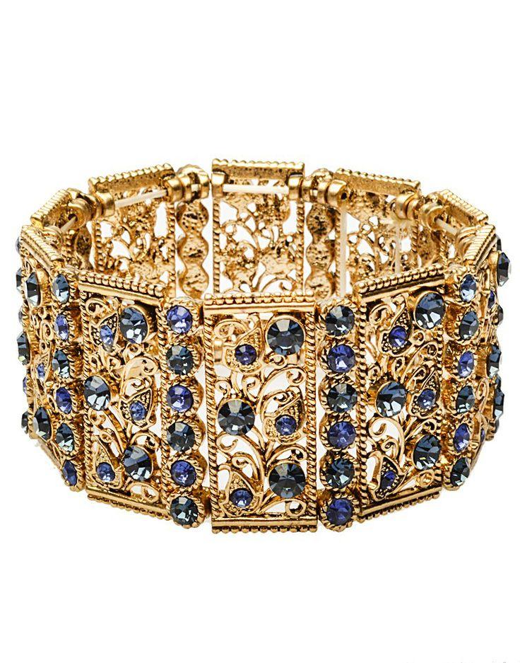 925 JEWELLERY   Black Stone Bracelet -  - Style36