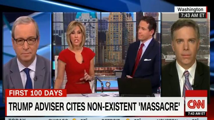 Kellyanne Conway Creates Fake 'Bowling Green Massacre' to Justify Travel Ban - Off Topics  During a Thursday interview with MSNBCs Chris Matthews the counselor to the president defended President Trumps travel ban related to seven majority-Muslim countries. At one point Conway made a reference to two Iraqi refugees whom she described as the masterminds behind the Bowling Green massacre.  Most people dont know that because it didnt get covered Conway said.  The Bowling Green massacre didnt…