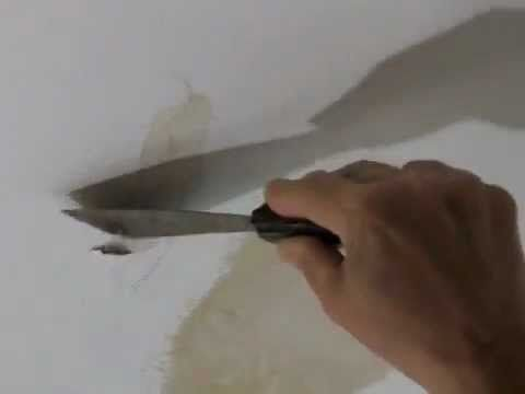 How to Repair a Water Damaged Plaster Ceiling - YouTube