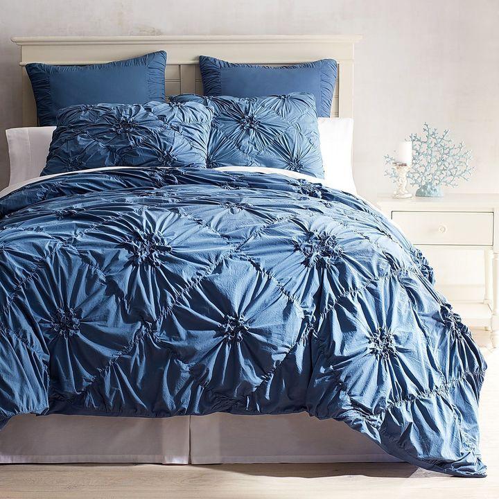 Pier 1 Imports Savannah Ink Blue Duvet Cover & Sham