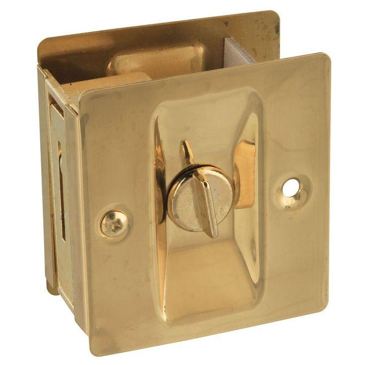 National Hardware Pocket Door Latch in Solid Brass-V1951 POCKET DR LTCH SB at The Home Depot