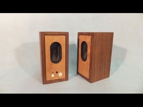 VIDEO - Make Wooden Speaker Boxes for your Computer from Old Plastic Ones