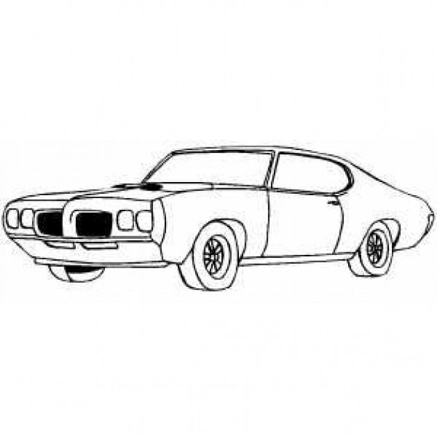 Brawny Muscle Car Coloring Pages Cars Coloring Pages Old School