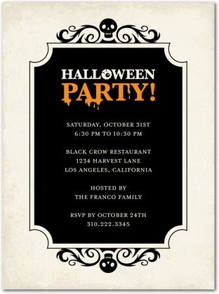 17 Best images about Halloween invites on Pinterest | Haunted ...