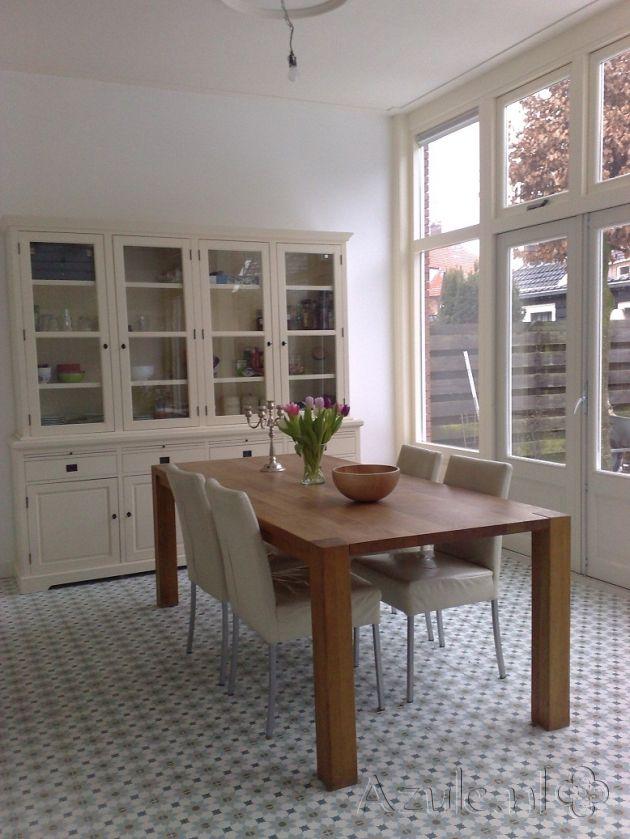 Cement tiles Living Room - Azule 01 - Project van Designtegels.nl
