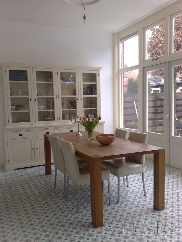 Cement tiles Living Room - Azule 01 - Project van Designtegels.nl