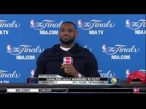 LEBRON JAMES POSTGAME PRESS CONFERENCE   GAME 2, 2015 NBA FINALS   YOUTUBE