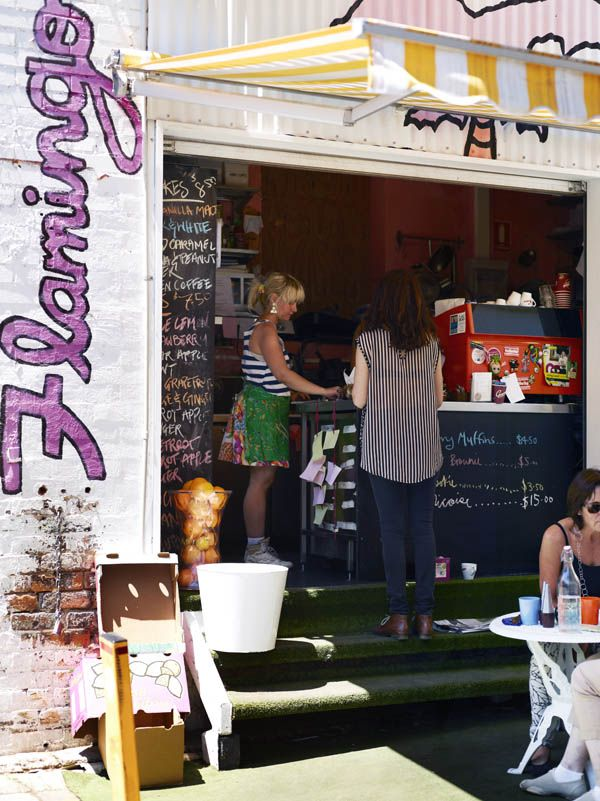 Flamingo Cafe, Winn Lane. Cute hole in the wall - very well placed in an up and coming strip in the Valley.