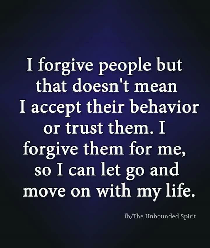 She forgave them all. Not because they deserved it. But because she did. #truth