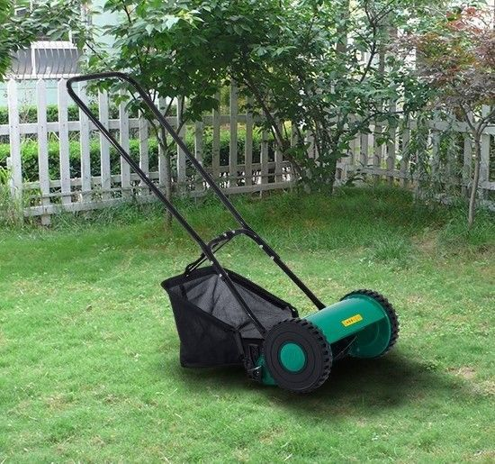 Push Lawn Mower Walk Behind with Grass Catcher Adjustable Height 12 5x Blade #Unbranded