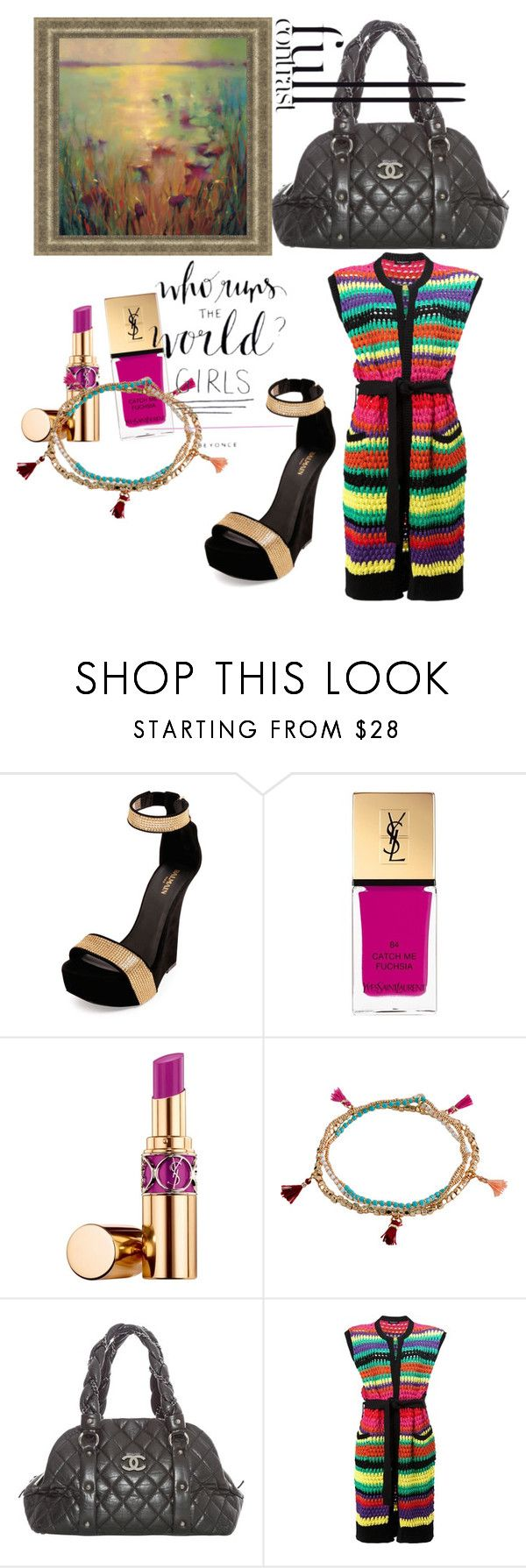 """""""Sin título #120"""" by lilydeluxe ❤ liked on Polyvore featuring Balmain, Yves Saint Laurent, Billabong and Chanel"""