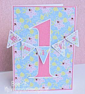 Girls 1st Birthday banner card                                                                                                                                                                                 More