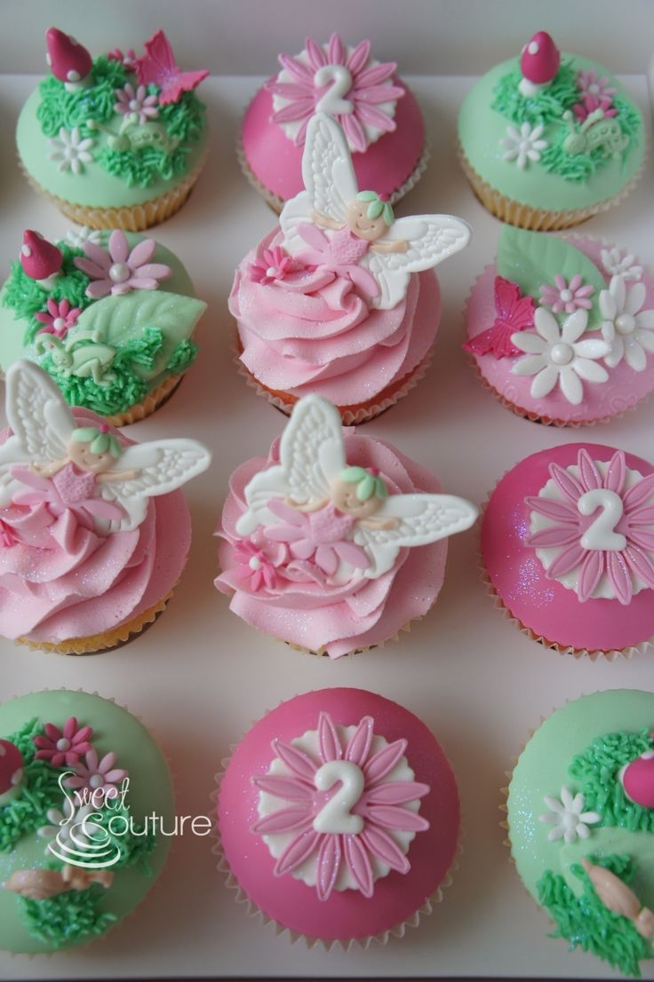 Fairyland Cupcakes for a 2nd birthday.