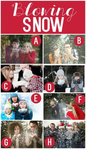 Fun Christmas Card Ideas / Family Photography / Winter Photoshoot Idea / Blowing Snow Photo Session