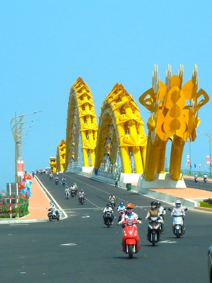 One of my favorite bridges in the entire world. I love it when it spits out fire. #DaNang #Vietnam