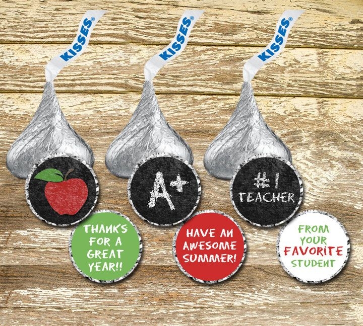 A personal favorite from my Etsy shop https://www.etsy.com/ca/listing/293231941/hershey-kiss-sticker-teacher