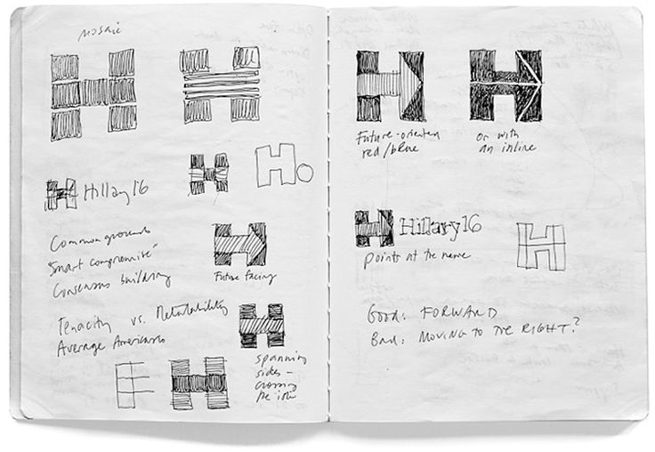 The logo we designed for Hillary Clinton wasn't clever or artful. I didn't care about that. I wanted something that you didn't need a software tutorial to create, something as simple as a peace sign or a smiley face. I wanted a logo that a five-year-old could make with construction paper and kindergarten scissors.