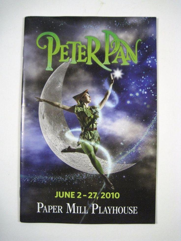 Playbill Peter Pan Paper Mill Playhouse Theatre June 2010